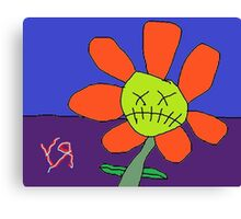 """Zombie Flower"" by Richard F. Yates Canvas Print"