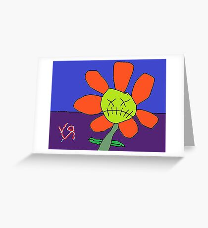 """Zombie Flower"" by Richard F. Yates Greeting Card"