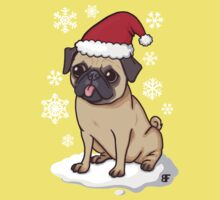 Christmas Pug (red) Kids Tee
