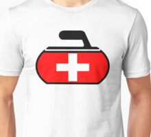Switzerland Curling Unisex T-Shirt
