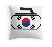 South Korea Curling Throw Pillow