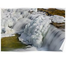 Frosty Falling Water Poster