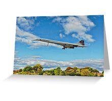 British Airways Concorde Greeting Card