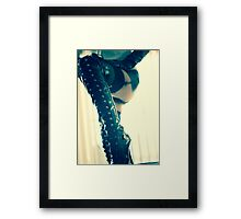 Fetish boots Framed Print