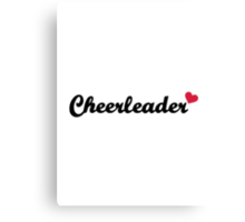 Cheerleader heart Canvas Print