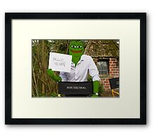 Harrison 'Pepe' Ford the Smug Frog - Hello 4chan Framed Print