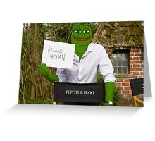 Harrison 'Pepe' Ford the Smug Frog - Hello 4chan Greeting Card