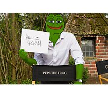 Harrison 'Pepe' Ford the Smug Frog - Hello 4chan Photographic Print