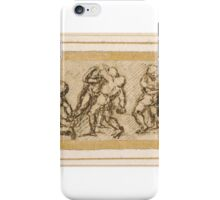Attributed to Girolamo Genga  Four Pairs of Fighting Soldiers in Armour iPhone Case/Skin