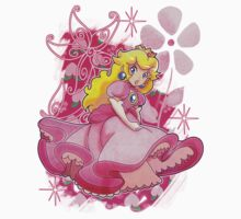Flowery Princess Peach Kids Clothes