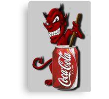 Coke Is The Devil Canvas Print