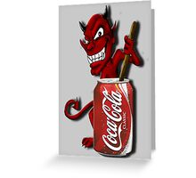 Coke Is The Devil Greeting Card