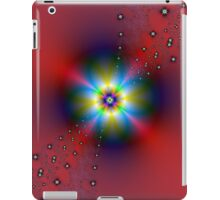 Floral Spray on Red iPad Case/Skin