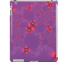 Flower Galaxy in Red on Violet iPad Case/Skin