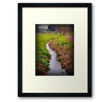 the stream Framed Print