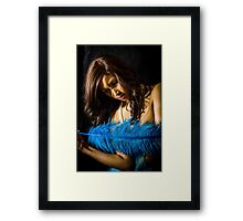 Blue Feather 11 Framed Print