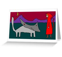"""""""Red and the Wolf Make a Pact (Granny Never Saw It Coming)"""" by Richard F. Yates Greeting Card"""