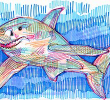 Shark drawing by Gwenn Seemel