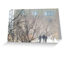 High Line, Snow View, New York City's Elevated Garden and Park  Greeting Card