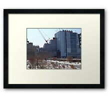 High Line, Snow View, High Line Headquarters, Whitney Museum Under Construction, New York City  Framed Print