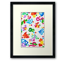 COLOR FALL AND PLAYFUL Framed Print