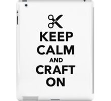 Keep calm and craft on iPad Case/Skin