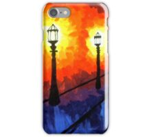 Streets Lights on a Cold Night iPhone Case/Skin