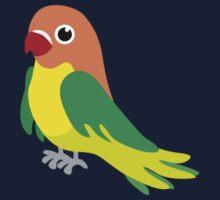 Fischer's Lovebird Parrot Kids Tee