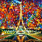 PARIS OF MY DREAMS ORIGINAL OIL PAINTING BY LEONID AFREMOV by Leonid  Afremov