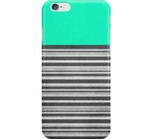 Mint Gray Stripes iPhone Case/Skin
