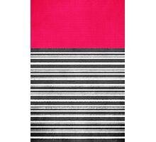 Pink Gray Stripes Photographic Print
