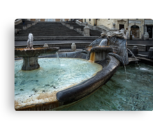 Almost Empty Spanish Steps in Rome Canvas Print