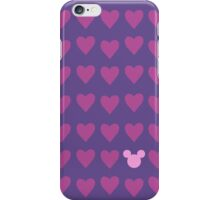Hidden Mickey- Pink & Purple iPhone Case/Skin