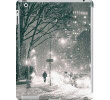 Night - Winter - New York City iPad Case/Skin