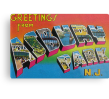 Greetings from Asbury Park Metal Print