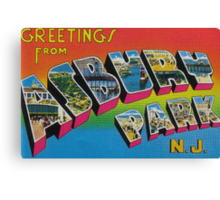 Greetings from Asbury Park Canvas Print
