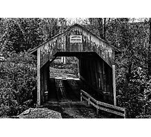 Grange City Covered Bridge - BW Photographic Print
