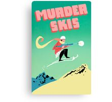 Murder Skis Canvas Print