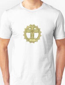 celtic knot Christian cross faith hope love gold emblem T-Shirt