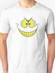 smiley face evil super villain genius plotting smile T-Shirt