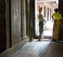 at the doorway by Anne Scantlebury