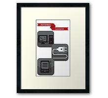 21st century survival kit Framed Print