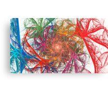 Rainbow Spirals on White Canvas Print