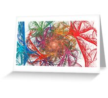 Rainbow Spirals on White Greeting Card