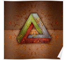 Penrose Triangle RGB Steel Poster