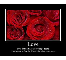 Love Doesn't Make the World Go 'Round Poster Photographic Print