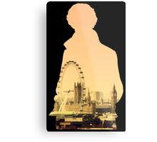 Sherlock - London Silouette Metal Print