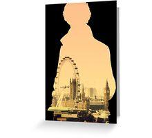 Sherlock - London Silouette Greeting Card