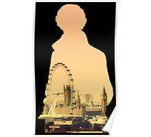Sherlock - London Silouette Poster
