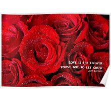 Love Is The Flower Poster